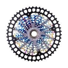 كاسيت جديدة ملونة 12 سرعة مزودة بـ ULT pro 12 S 9 50T XD كاسيت بألوان قوس قزح 388g ULT pro ضرس عجلة حرة 12 فولت 1299 k7