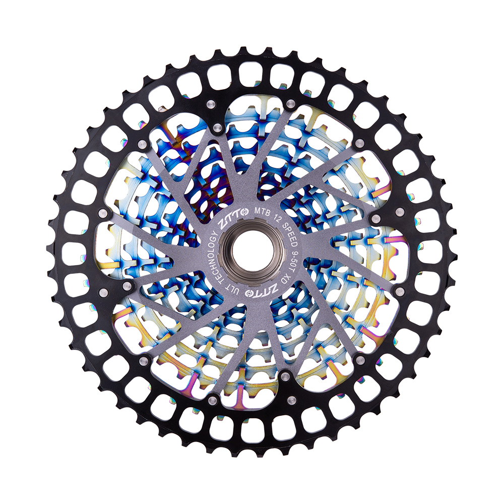 New Colorful MTB 12 <font><b>Speed</b></font> Cassette Ultimate ULT pro 12S 9-50T XD Cassette Rainbow 388g ULT pro Sprocket Freewheel 12V 1299 k7 image