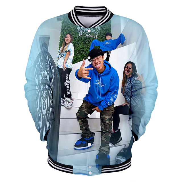 THE SHLUV HOUSE THEMED 3D BASEBALL JACKET (9 VARIAN)