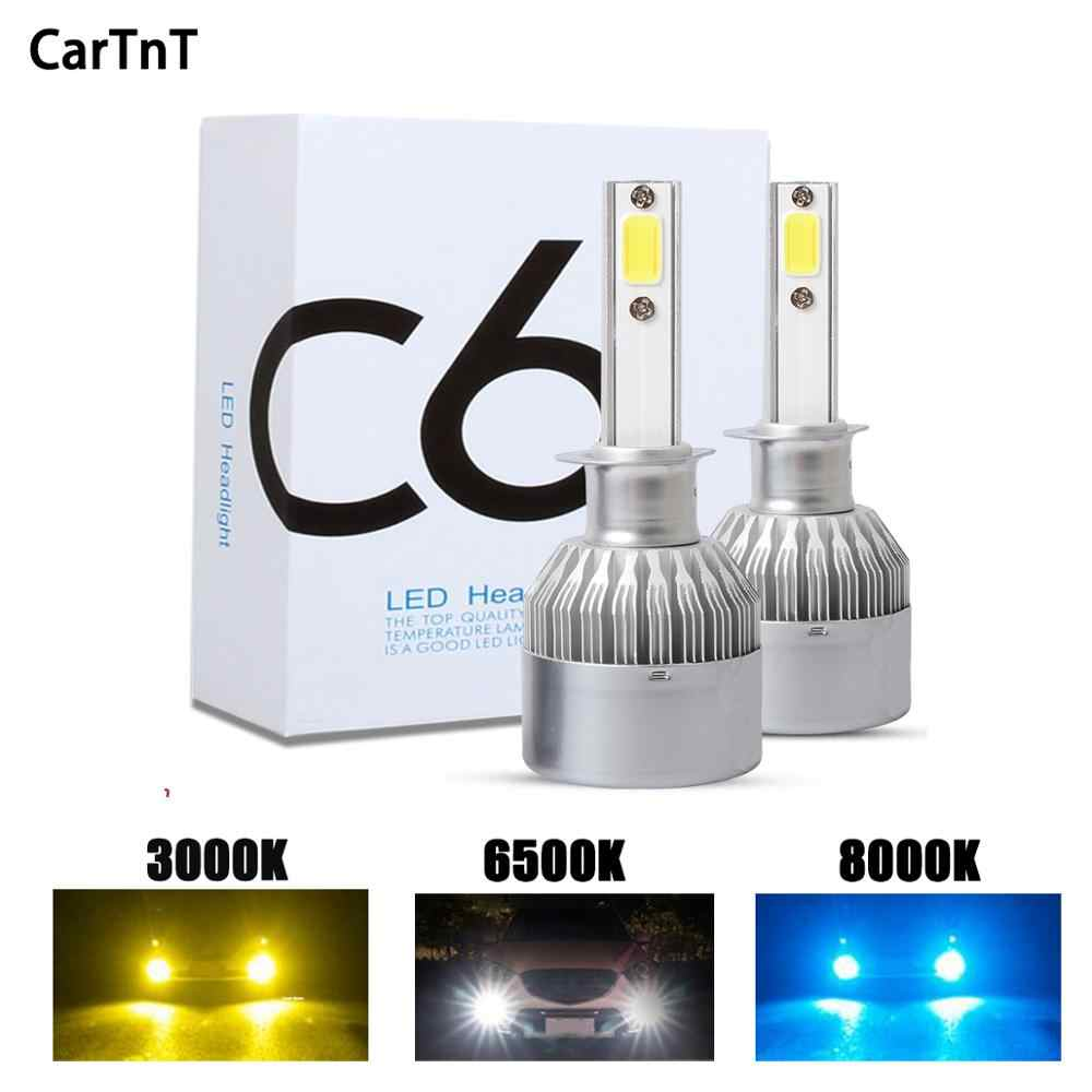 CarTnT 2Pcs H7 Led Bulb H1 H3 H4 9005 9006 H11 Led Bulb For Auto 72W 16000LM Led Headlight 6500K 16000LM Fog Lamps Led Light Car