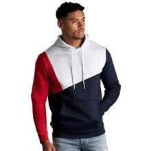 Mens Hoodies Sweatshirt 2019 Streetwear Patchwork