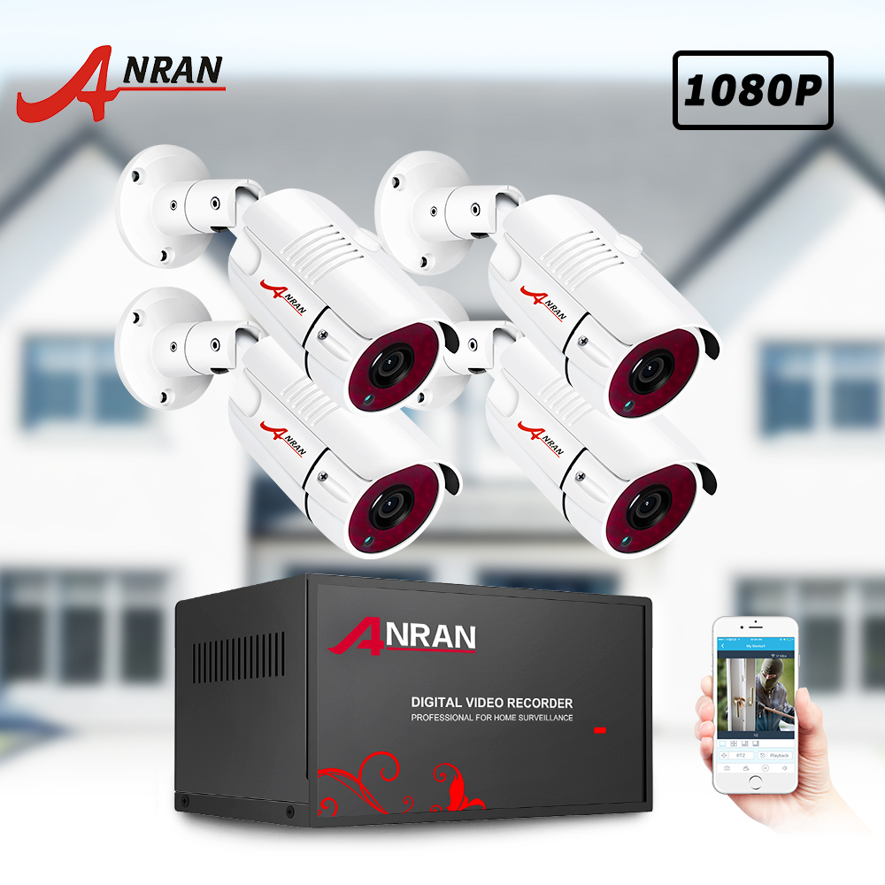ANRAN AHD CCTV System 2MP DVR Kit Video Surveillance System Weatherproof Outdoor Security Camera HDD Night Vision P2P HDMI