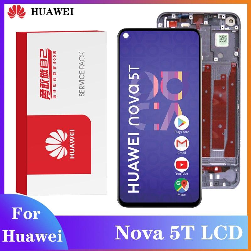 Оригинальный дисплей для Huawei Nova 5T ЖК сенсорный экран дигитайзер в сборе с рамкой для телефона L61A L61D L71A запасная часть для ЖК-дисплея