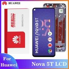 Display original para huawei nova 5t lcd tela de toque digitador assembléia com quadro para YAL-L21 l61a l61d l71a parte reparo lcd