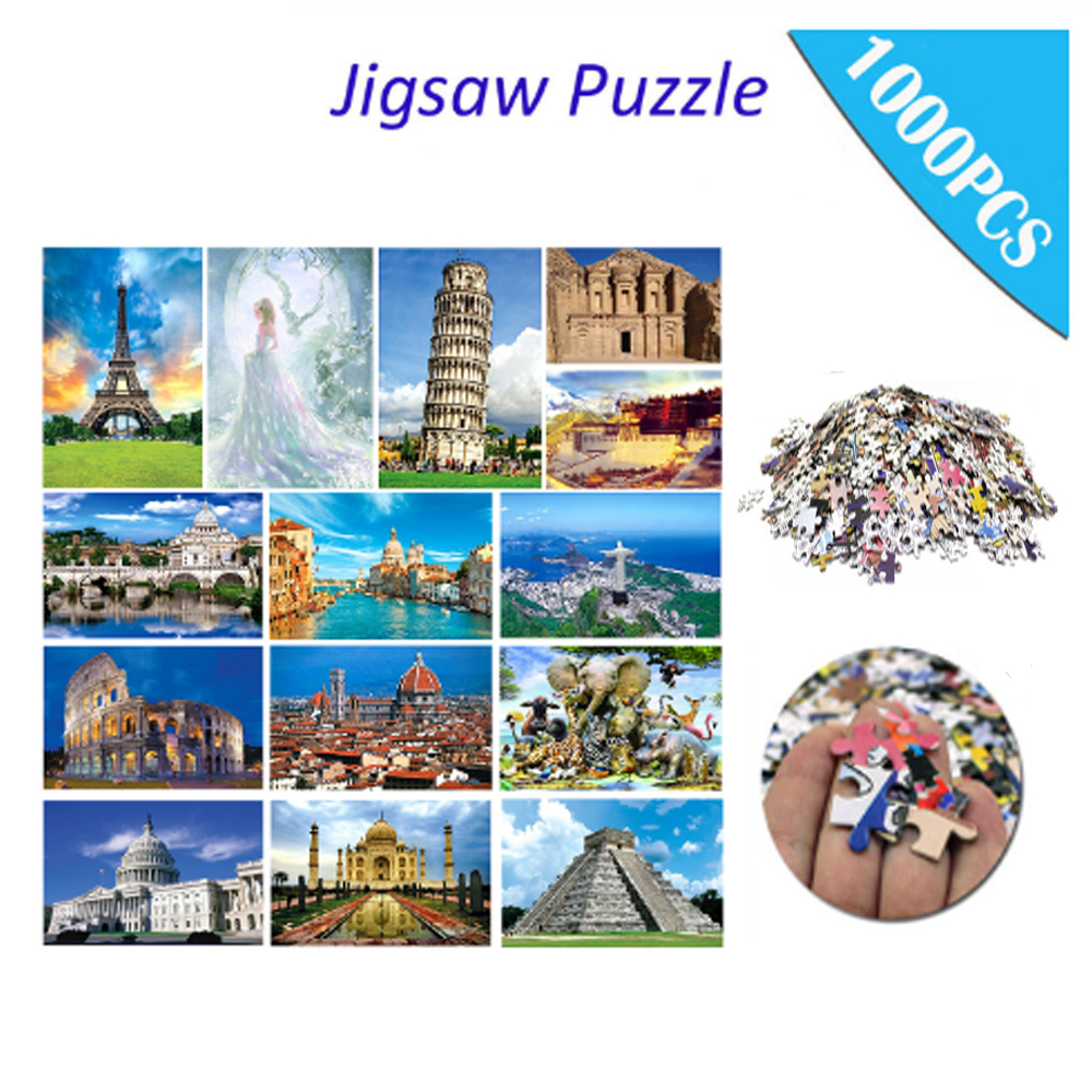 Jigsaw Puzzles 1000 Pieces Puzzle Game Paper Quality Assembling Puzzles For Adults Puzzle Toys Kids Children Educational Toys