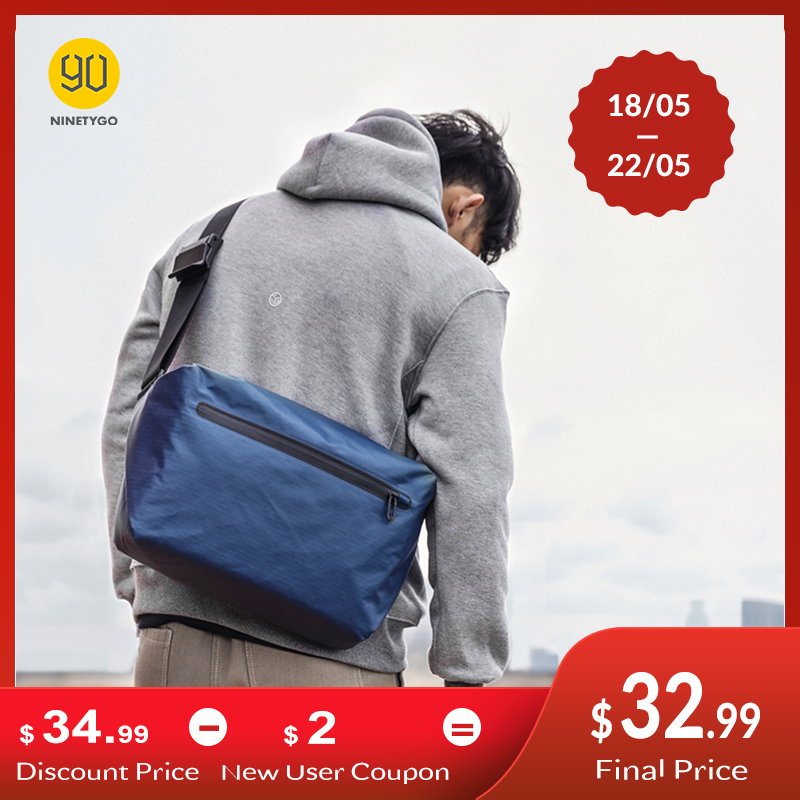 NINETYGO 90FUN Stylish Messenger Bag Crossbody Bag Casual Sports Waterproof College Handbag Shoulder Bags For Couple Men Women image