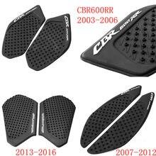 Dla Honda CBR600RR 2003 do 2014 2015 2016 2017 2018 2019 CBR 600RR CBR 600 RR naklejki motocyklowe antypoślizgowe Tank Pad naklejki
