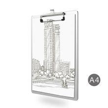 A4 Aluminum Alloy Writing Clip Board Antislip File Hardboard Paper Holder Office School Stationery Supplies