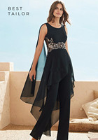 Mother of The Bride/Groom Dresses for Wedding Jumpsuit Black Chiffon Sleeveless Draped Modest Women Formal Evening Gowns Farsali