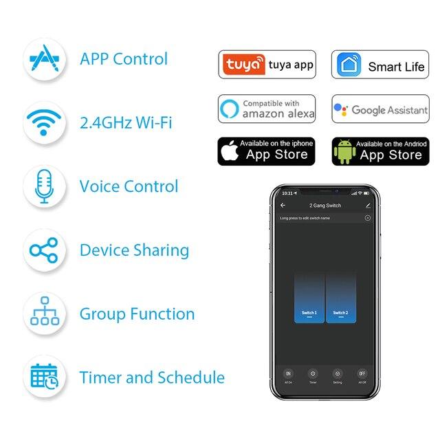 Modulo interruttore doppio WiFi 5