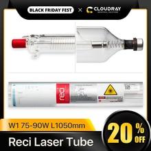 Cloudray reci w1/t1 75w co2 laser tubo de madeira caixa de embalagem diâmetro. 80mm/ 65mm para a máquina de corte da gravura do laser do co2