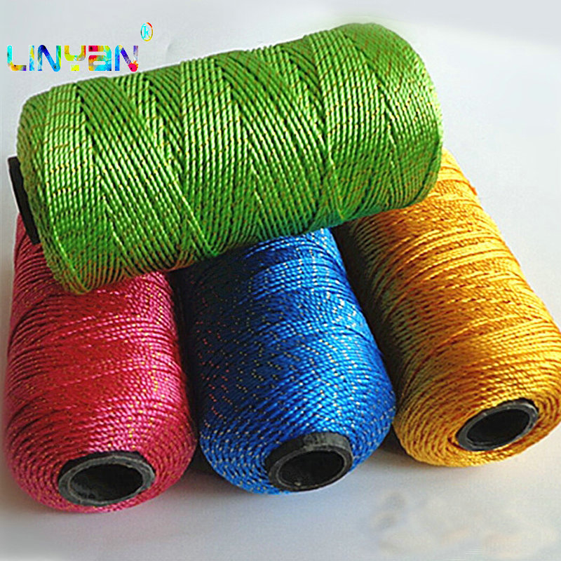 6 Pcs Handwork Gold Synthetic Line Yarn For Knitting Baby Milk Threads For Knitting Hand-knitted Knitting Cushion Material T3