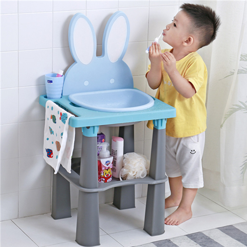 Eco-friendly Children's Dressers Kids Child Cute Wash Tables Princess Makeup Table Kids Early Education Wash Basin Removable