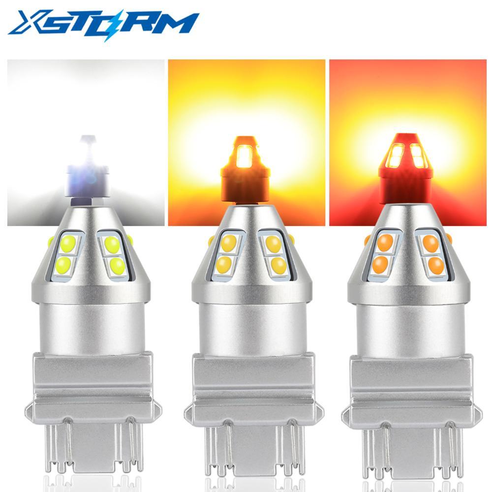 T20 7440 W21W 7443 W21/5 Вт T25 WY21W светодиодный ламп с 10SMD 3030 автомобильный тормоз обратного светильник 12V авто лампы сигнала поворота P21W BA15S