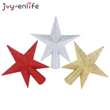 1pcs Glitter Stars Christmas Tree Top Xmas Ornaments Topper Christmas Tree Decoration For Home 2020 New Year Party Supplies