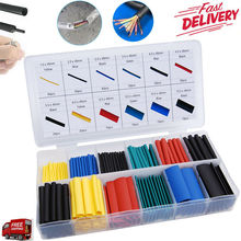 328PCS 2:1 Polyolefin Heat Shrink Tubing Tube Wrap Wire Assortment 8 Size lot Adhesive heat shrink range of zippers various size jfbl hot 277x thermo sheath assortment heat shrink ratio 2 1 heat shrink