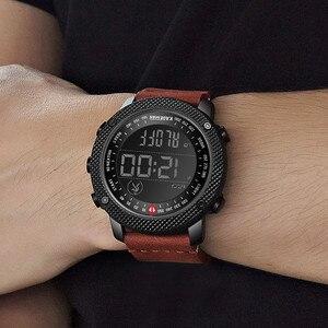 Image 4 - KADEMAN 2019 Luxus Sport Herren Uhren Schritte Zähler LED Digital Uhr 3ATM Mode Designer Casual Leder Armbanduhren Relogio