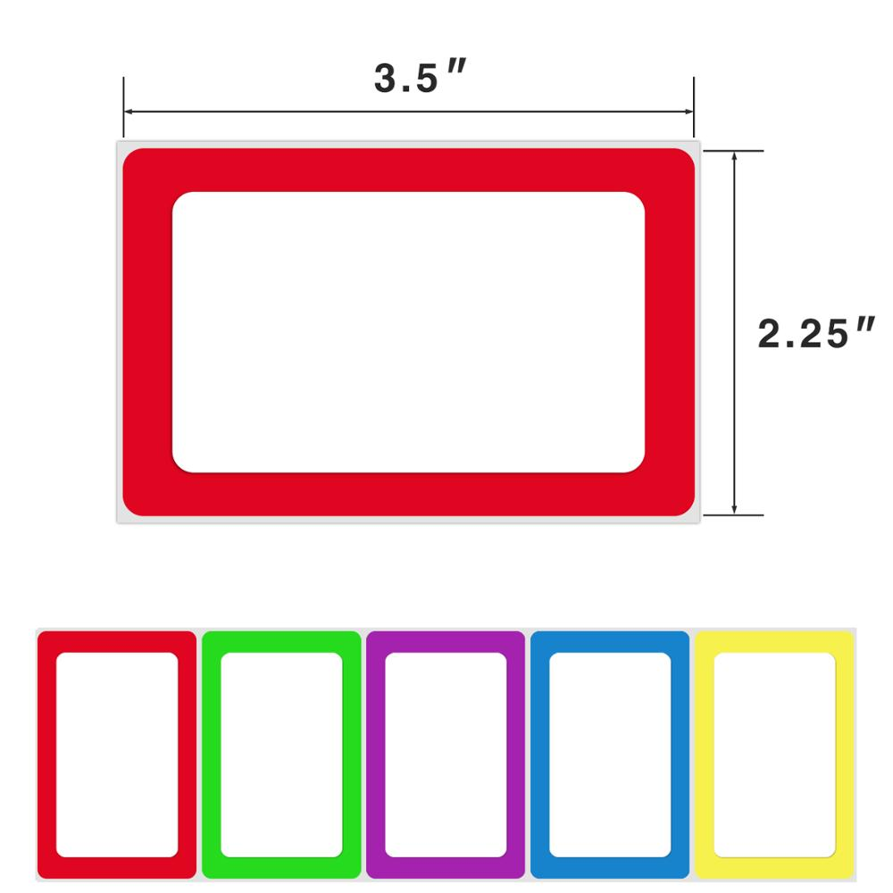 Self Adhesive Name Tag Stickers Labels With 5 Colors 250 Stickers Per Roll