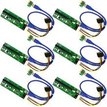 USB 3.0 PCI-E pci e Riser Express 1X 4x 8x 16x Extender Riser адаптер карта SATA 15pin Male to 6pin Power кабель