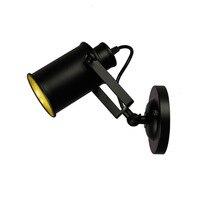 Americano lâmpadas led industrial do vintage ferro luz de parede para barra casa iluminação luminária applique deco maison luzes parede para casa