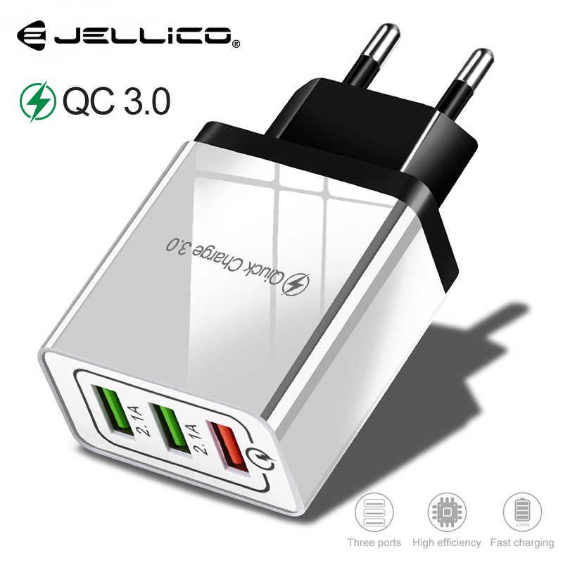 Jellico شاحن سريع 3.0 شاحن يو اس بي محول حائط الطاقة آيفون باد سامسونج شاومي الهواتف المحمولة QC3.0 السفر شاحن سريع