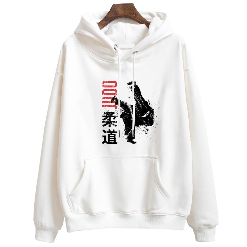 Judo Hoodies Men Brazilian Jiu Jitsu Long Sleeve White Hooded Sweatshirts Tops Women Sudadera Hoody For Boy Gift
