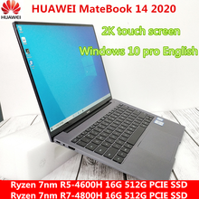 HUAWEI MateBook 14 2020 ноутбук с диагональю 14 дюймов Ryzen 7nm R5-4600H/ R7-4800H 16G 512G PCIE SSD FHD IPS 2K сенсорный экран ультрабук
