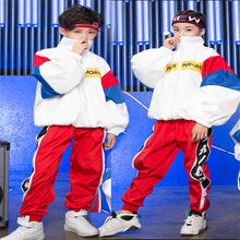 Boys Girls Korean Style Loose Jacket Jogger Pants Jazz Suit Children Hiphop Dance Clothes kid Costumes Kids Street Dance Outfit(China)