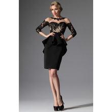 Новейший дизайн короткое платье для матери невесты черные вечерние