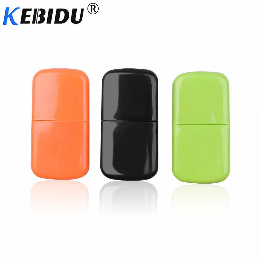 Kebidu المحمولة USB 2.0 قارئ بطاقات مايكرو SD فلاش TF قارئ بطاقات الذاكرة عالية السرعة مايكرو ترانسفلاش إلى محول أزياء