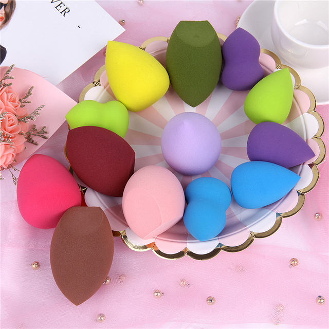 19 Colors Makeup Sponge Cosmetic Powder Puff Smooth Women Girls Makeup Foundation Sponge Beauty to Make Up Tools Accessories 1
