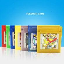 Pokemon gbc série de jogos de 16 bits cartucho de jogo de vídeo console cartão clássico jogo coletar versão colorida língua inglês