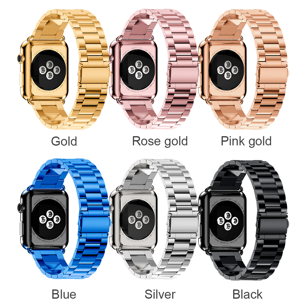 Watches ... Watch Accessories ... 32666477781 ... 5 ... Stainless Steel Strap For Apple Watch Band 38mm 42mm 3 2 1 Metal Smart Watchband Bracelet Strap for iWatch Series 4 5 40mm 44mm ...