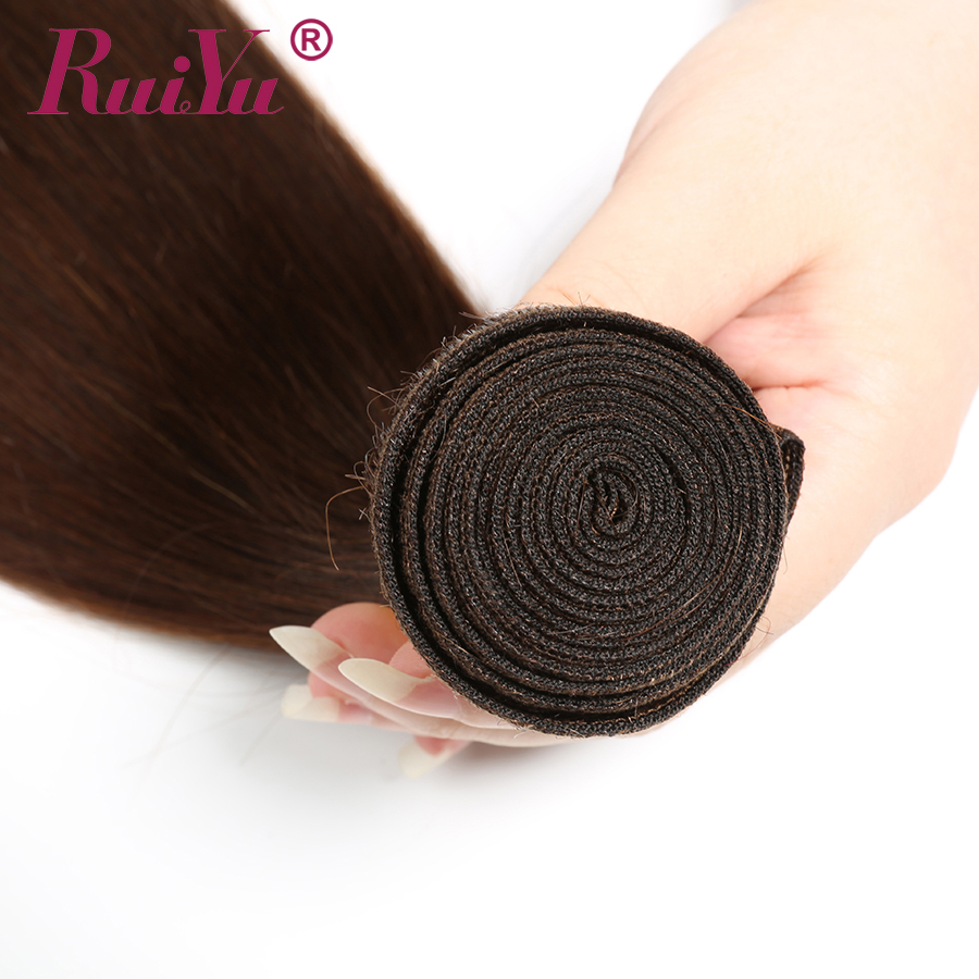 H20950ac2761146d19fb2935ed2790eb80 Human Hair Brown Bundles With Closure Brazilian Straight Hair Weave Bundles With Closure Middle Ration 10- 26 Inch NonRemy RUIYU
