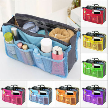Purse Organizer Insert Liner for Holding Cosmetics/Mobile/Cards and Wallet During Travel