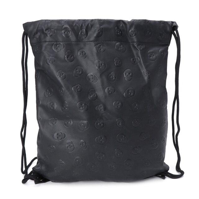 Новая сумка унисекс с черепом и шнурком модный спортивный рюкзак
