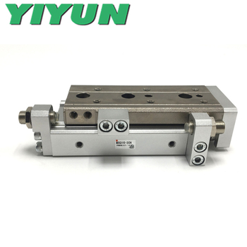 MXQ16-10/20/30/40/50 MXQ16-10A/20A/30A/40A/50A MXQ16-10B/20B/30B/40B/50B C R F P YIYUN cylinder Air Slide Table MXQ Series image