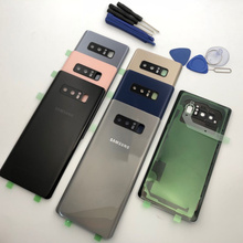 note8 Battery Back Cover Glass Door Housing Replacement +Rear Camera Glass Lens Frame For Samsung Galaxy Note 8 N950 N950F N9500