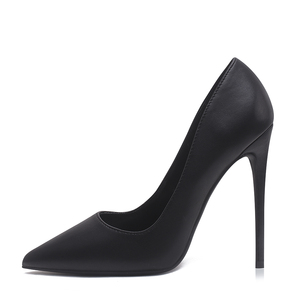 Image 4 - Sapatos mulher bombas de salto alto 12cm tacones apontou toe stilettos talon femme sexy senhoras sapatos de casamento saltos pretos tamanho grande