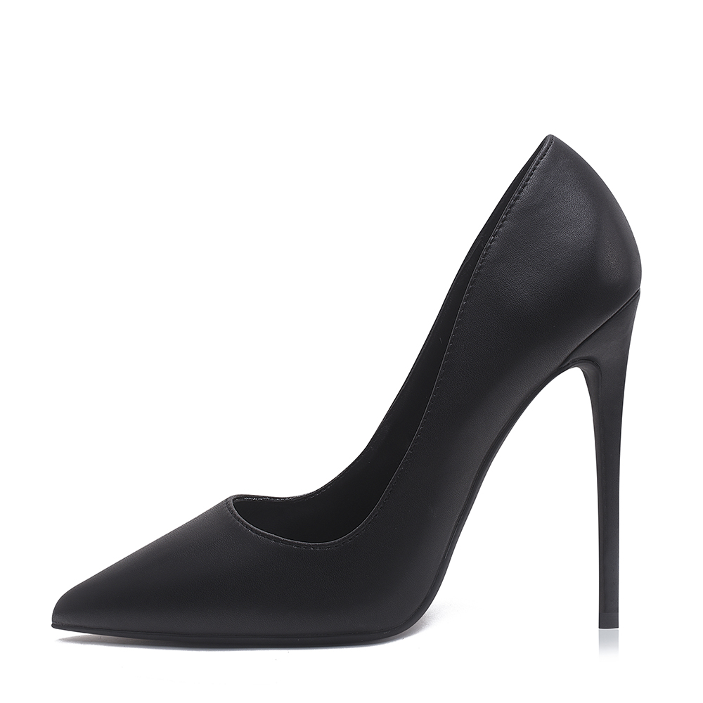 Shoes Woman Pumps Stilettos Tacones Talon Black Heels Pointed-Toe High-Heels 12cm Sexy