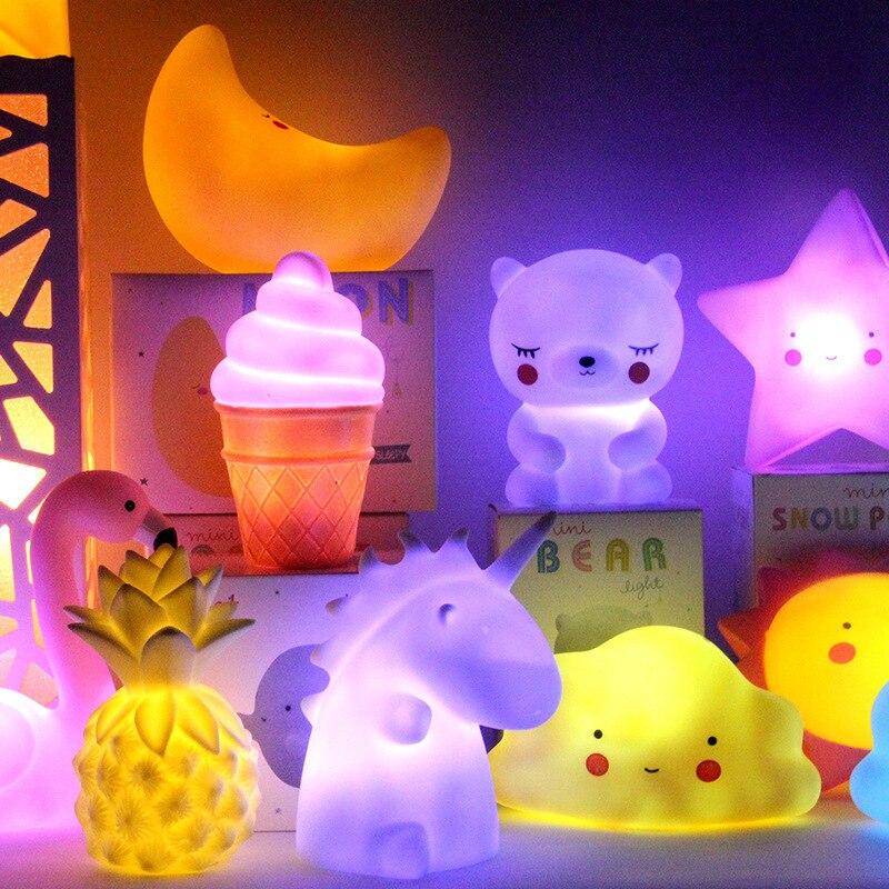 New Stall Animal Toys Creative Cartoon Rabbit Night Lamp LED Cute Bear Eye Protection Bedside Lamp