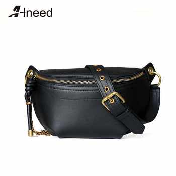 ALNEED Genuine Leather Luxury Fanny Pack Brand Women Chest Bag Chain Fashion Waist Bags Phone Purse Pocket Belt Bags - DISCOUNT ITEM  42% OFF All Category