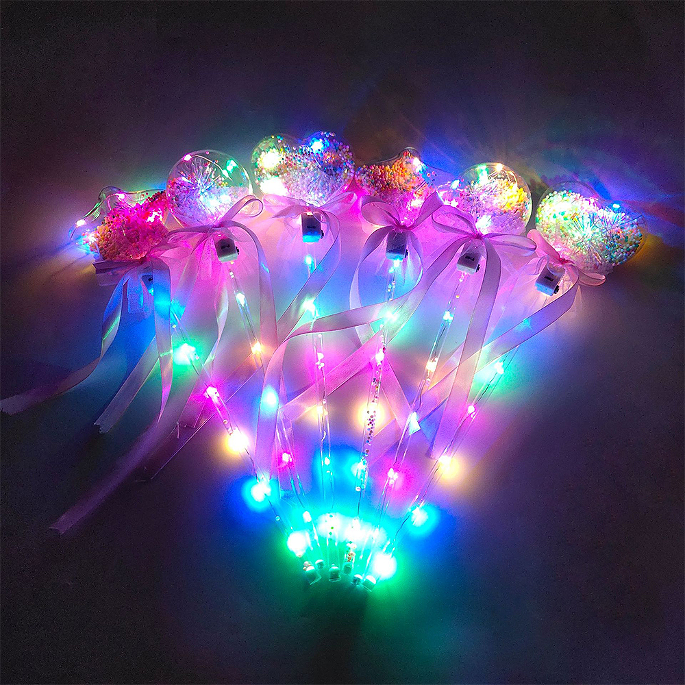 Light-up Magic Ball Wand Glow Stick Witch Wizard LED Magic Wands Halloween Chrismas Party Rave Toy Great Gift For Kids Birthday