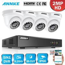 ANNKE 1080P 4CH Home Video Security System Lite H.264 + 5in1 1080N DVR 4PCS 1080P Smart IR dome Outdoor Wetterfeste CCTV Kamera