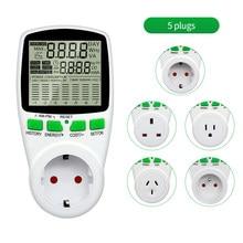 Digital AC Power Meter Sockel Wattmeter Energie Meter 50Hz Watt Kosten Monitor FR UNS UK AU BR Mess Outlet power Analyzer