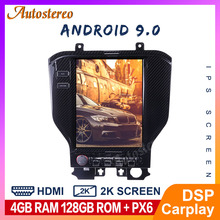 Android 9.0 4+64 Tesla Style Carbon Fiber For Ford Mustang 2015 2019 Car GPS Navigation Stereo Radio Head Unit Multimedia Player