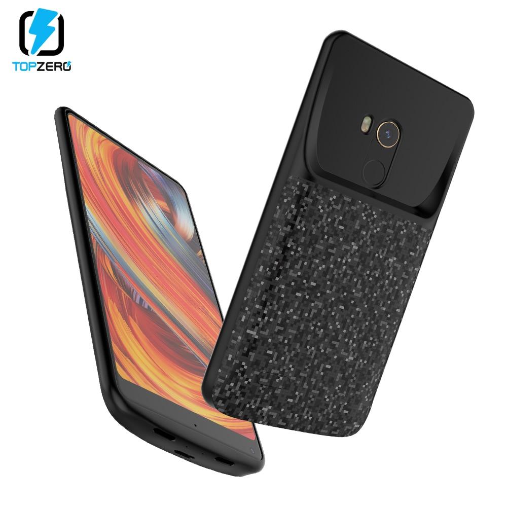 Battery Charger Case For Xiaomi Mi MIX 2 2S Mi 6 6X A2 Mi 8 8SE Portable Battery External Bank Case Silicone Power Bank Case