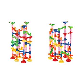 Dzieci DIY utwór budynku rury bloki marmuru 3D labirynt piłka labirynt zabawki na tor prezent na boże narodzenie tanie i dobre opinie CN (pochodzenie) Z tworzywa sztucznego orbital ball building block 8 ~ 13 Lat Urodzenia ~ 24 Miesięcy 2-4 lat 5-7 lat Dorośli