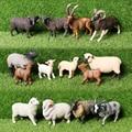Имитация овцы мериноса, аргали, гималайской овцы, черной овцы, козы, модель животного, фигурка, развивающие игрушки, фигурка для детей