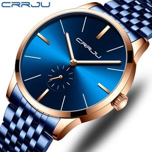 CRRJU, мужские часы, Лидирующий бренд, роскошь, мода, кварц, мужские, часы, водонепроницаемые, бизнес, мужские, военные часы,